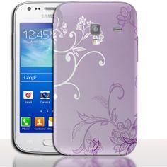 Coque Samsung Galaxy ACE 2 Floral Lilla. #i8160 #Floral #Lilla #Coquedetelephone