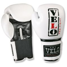 VELO Leather Boxing Gloves Fight Punch Bag MMA Muay thai Grappling Pad Glove WH