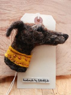 needle felted dog brooch | by adore62