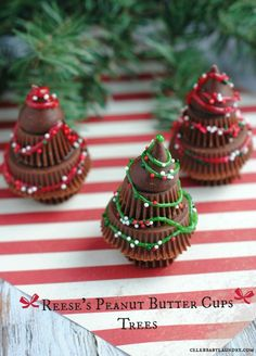 Reese's Chocolate Candy Christmas Trees | Recipe | Peanut butter ...