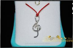 Music Clef Symbol Necklace Sterling Silver by LakasaEshopDesign #music #necklace #jewelry #joyas #mujer #woman #moda #silver #jewellery #unisex #symbol #song #rock #classic #singer