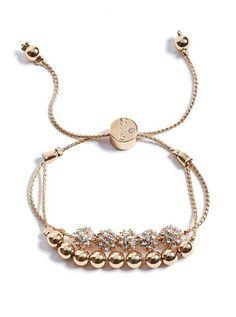 Boxed Rose Gold-Tone Charm Bracelet | shop.GUESS.com