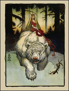 William Stout's White Bear King, an homage to Theodor Kittelsen.