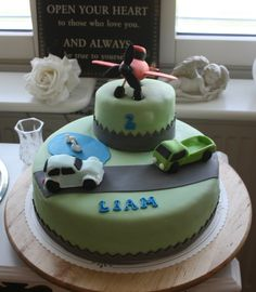 A Birthday cake for a 2-year old boy made by Nilla Hautasaari
