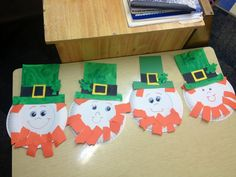 Easy St.patricks day craft for kids Paper plate leprechauns!