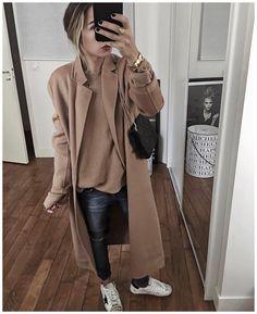 AUDREY LOMBARD sur Instagram : Et la tenue en entier! Je vous souhaite une belle soirée et une agréable fin de week end ✨ • Coat &a Knit #thekooples (on sale on…