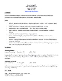 Machine Operator Sample Resume   Http://exampleresumecv.org/machine Operator