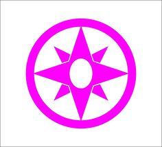 Star Sapphire Corps logo Vinyl Decal, DC Comics, Green Lantern #DecalDrama