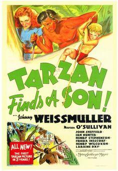 Tarzan Finds a Son! -Watch Tarzan Finds a Son! FULL MOVIE HD Free Online - Online Streaming Tarzan Finds a Son! Old Movie Posters, Cinema Posters, Movie Poster Art, Old Movies, Vintage Movies, Great Movies, Maureen O'sullivan, Tarzan Of The Apes, Tarzan And Jane