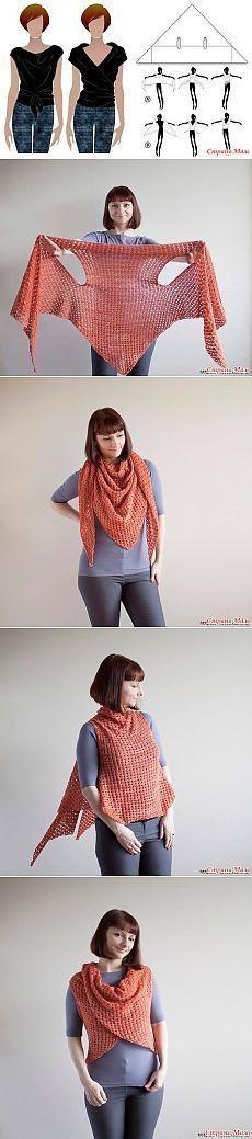Weste oder Schal... stricken oder häkeln... Inspiration