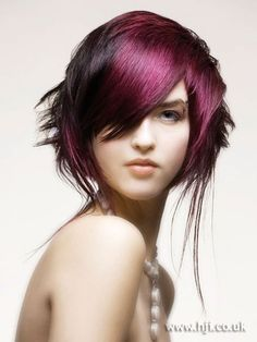 2007 purple texture hairstyle..
