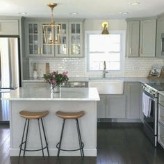 Details about NEW Authentic Visual Comfort Darlana Chandelier Mini Pendant 2175 Open Cage - White Kitchen - Kitchen Beautiful Kitchens, Cool Kitchens, Dream Kitchens, Galley Kitchens, Luxury Kitchens, Kitchen Furniture, Kitchen Decor, Rustic Kitchen, Kitchen Hacks