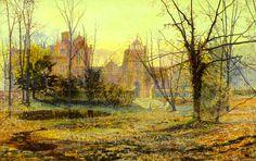 Soirée, Hall Knostrop Vieux, 1870 de John Atkinson Grimshaw (1836-1893, United Kingdom)