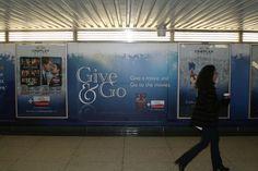 Cineplex Give & Go Campaign Calgary, Vancouver, Campaign, Wall, Movies, Films, Cinema, Film, Movie