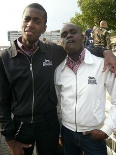 English Jamaican skins wearing Lonsdale London Harrington jackets