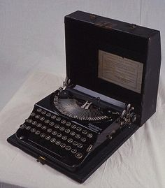 Agatha Christie's Typewriter. This insignificant little machine has brought pleasure to millions! Now there's a thought...