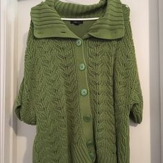 Plus size sweater Super cute.  Can style neck different ways with the buttons Style & Co Sweaters Cardigans