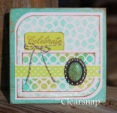 card sketch #10 by tami sanders : colorbox blends, the crafter's workshop, stencils,templates,stamped card,stenciled card http://blog.clearsnap.co...