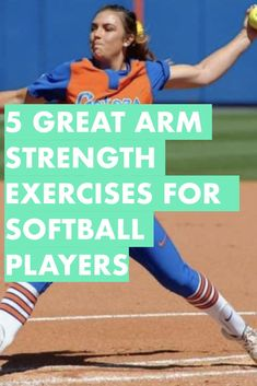 Learn these five strength training exercises for shoulder health, throwing velocity and pitching speed. Any softball player can quickly learn these workouts for softball and improve her game immediately. Softball Pitching Drills, Softball Workouts, Fastpitch Softball, Softball Coach, Girls Softball, Softball Players, Softball Stuff, Softball Things, Softball Quotes