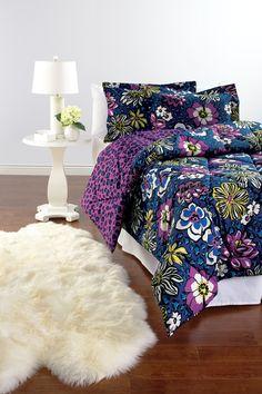 Vera Bradley Reversible Comforter Set in African Violet. Dream Rooms, Dream Bedroom, Girls Bedroom, Bedroom Stuff, Bedroom Ideas, Bedrooms, New Beds, Bedding Collections, New Room