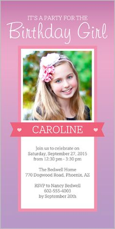 Party Time Banner 4x8 Photo Card by Shutterfly