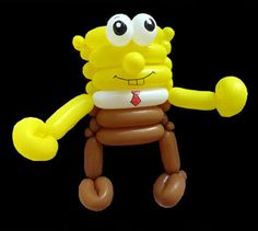 spongebob balloon twisting | Balloon Twisting Photos, Balloon Art, Balloon Modeling, Balloon ...