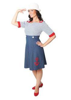 Siri S Design dress no 17 SAILOR / maritimt look sommerkjole