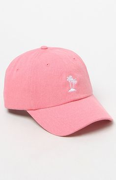 Court Palm Tree Pink Strapback Dad Hat