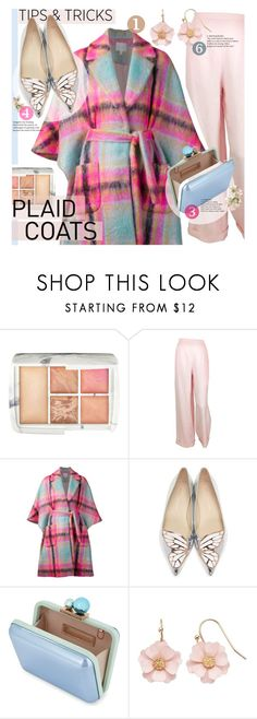 """Plaid Coats"" by addorajako on Polyvore featuring Hourglass Cosmetics, Chanel, Delpozo, Sophia Webster, LC Lauren Conrad and plaidcoats"