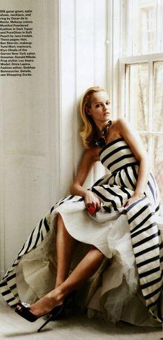Oscar de la Renta gown featured in @Stacy Magazine