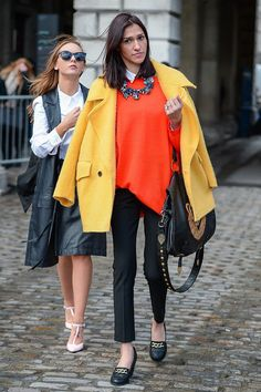 She knows the rules at Fashion Week — go big or go home. Street Style at London Fashion Week #LFW