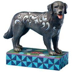 Jim Shore black lab dog figurine known as Duke