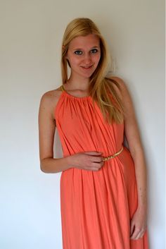 DIY summer dress, pillow case model, I'd want it a maxi version, not sure how long this one is