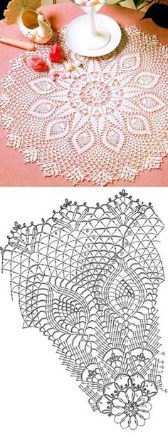 ideas crochet table runner diagram charts doily patterns for 2019 Learn the basics of how to cro Filet Crochet, Crochet Doily Diagram, Crochet Doily Patterns, Crochet Chart, Thread Crochet, Lace Knitting, Crochet Motif, Crochet Ideas, Crochet Table Runner