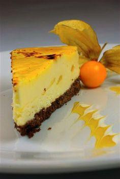 Mango Brulee Cheesecake