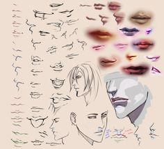 """Drawing Lips"" by moni158 of deviantART.com"
