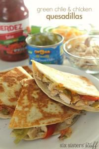 com green chile and chicken quesadillas six sisters green chile ...