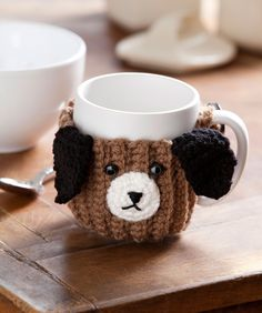 Puppy Mug Hug: free easy level Pattern