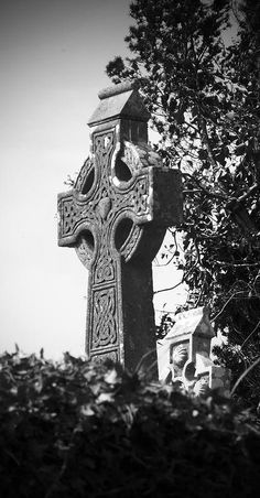 Celtic Cross at Fuerty Cemetery Roscommon Ireland