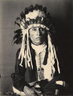 Portrait of Yankton Dakota man, Canhdeska Tawa by Wisconsin Historical Images, via Flickr