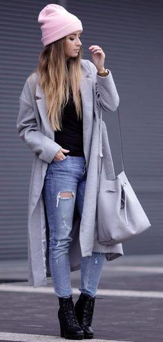 Styloly+Gray+Long+Coat+Fall+Street+Stye+Inspo+#styloly+
