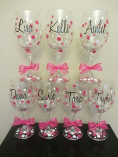 Bridesmaids glasses