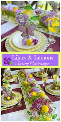 Dining Delight: Lilacs and Lemons Spring Tablescape