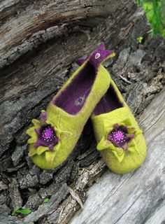 Check out this item in my Etsy shop https://www.etsy.com/listing/387258928/elfin-flower-felted-slippers-wool-shoes