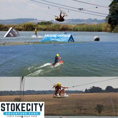 StokeCity Adventure Park is the ultimate Adventure Playground offering Cable Skiing, Wakeboarding & SA's 1st Floating Obstacle Course, the Aqua Park  Opening 31 August 2019 for Summer!   . . #stokecity #adventurepark #cableskiing #wakeboarding #floatingobstacle #kidspartyvenues #kidsparties #kidsactivity #functions #outing #outdoor #fun #aquapark