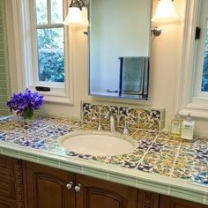 Bathroom Spanish Tile Design, Pictures, Remodel, Decor and Ideas - page 6