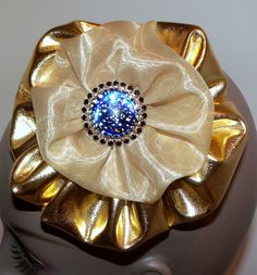 Gold lame fascinator hat hair  piece with a by McGarritys on Etsy, $18.98