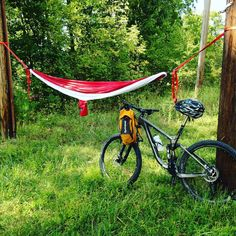 You know it's a great day when these awesome things come out together! #mountainbike #Hammock #marinbikes #grandtrunk
