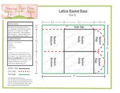 template for lattice basket