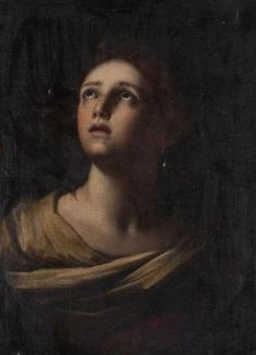 Continental School (19th century) 'Portrait of Mary Magdelene' Oil on Canvas.